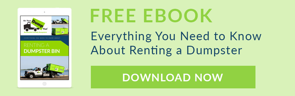 Find out EVERYTHING you need to know about renting a dumpster bin.