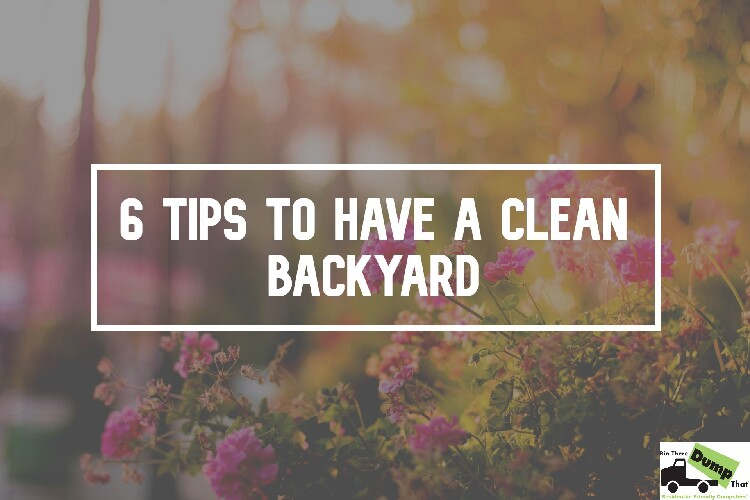 6 Awesome Tips For A Clean Backyard