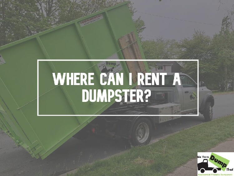 Where Can I Rent a Dumpster?